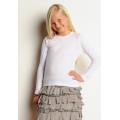 9501 Bella Girls' 5.8 oz. 1x1 Baby Rib Long-Sleeve Crew Neck T-Shirt