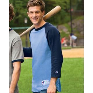 T1397 Champion 6.1 oz. Tagless Raglan Baseball T-Shirt ac3d43c94