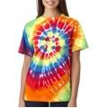 70 Gildan Tie-Dye Adult Cotton Rainbow Swirl Tee